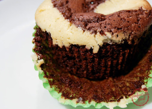 I love these Brownie Cupcakes with Cheesecake Swirl. They're rich and chocolatey, but light and airy...