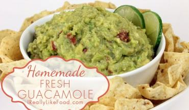 Homemade Fresh Guacamole Recipe