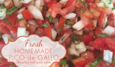 Fresh Homemade Pico de Gallo Recipe