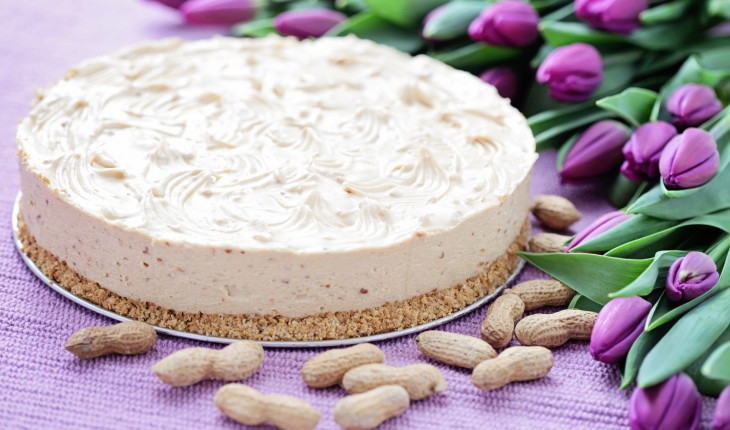 cheesecake with peanut butter - sweet food